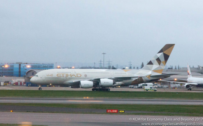 Etihad Airbus A380 at London Heathrow Airport - Image, Economy Class and Beyond