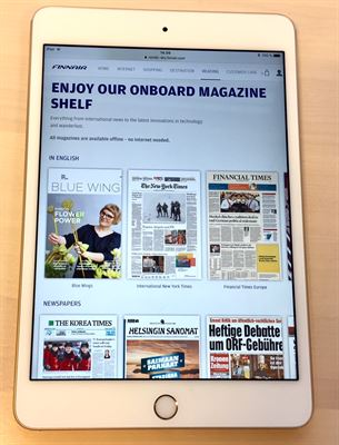 Papers on your ipad from Finnair's Nordic Sky - Image, Finnair