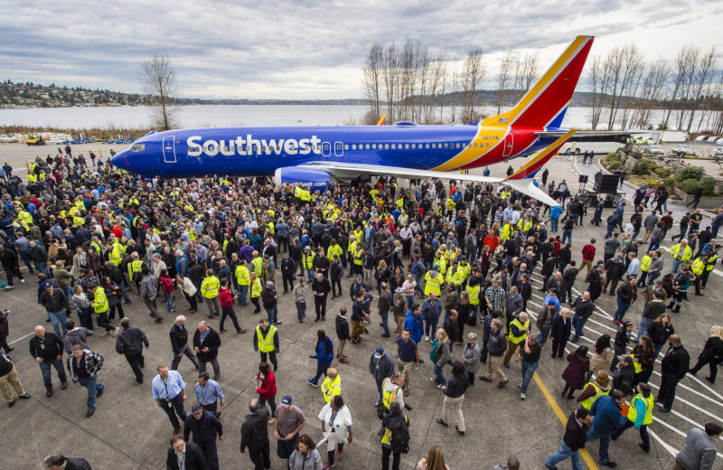 Boeing 10000th 737 rolls out. Image, The Boeing Company