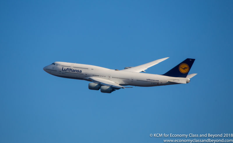 Lufthansa Boeing 747-8i departing Chicago O'Hare International - Image, Economy Class and Beyond