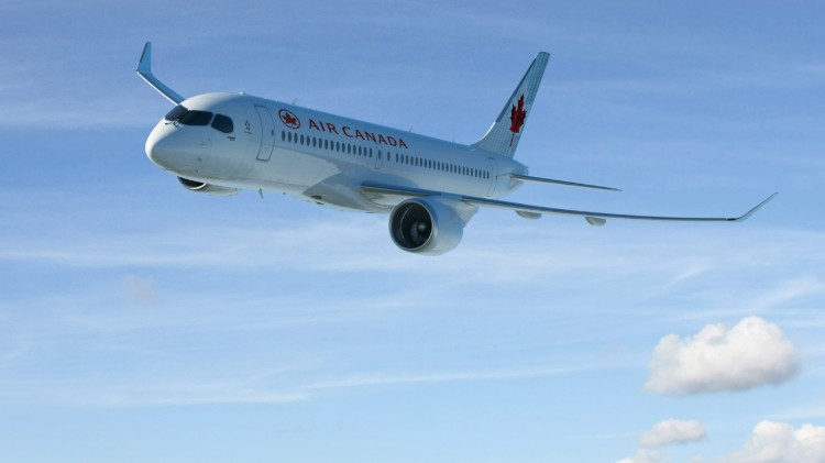 Air Canada Bombardier CSeries 300 - Image Bombardier to be fitted with gogo 2ku