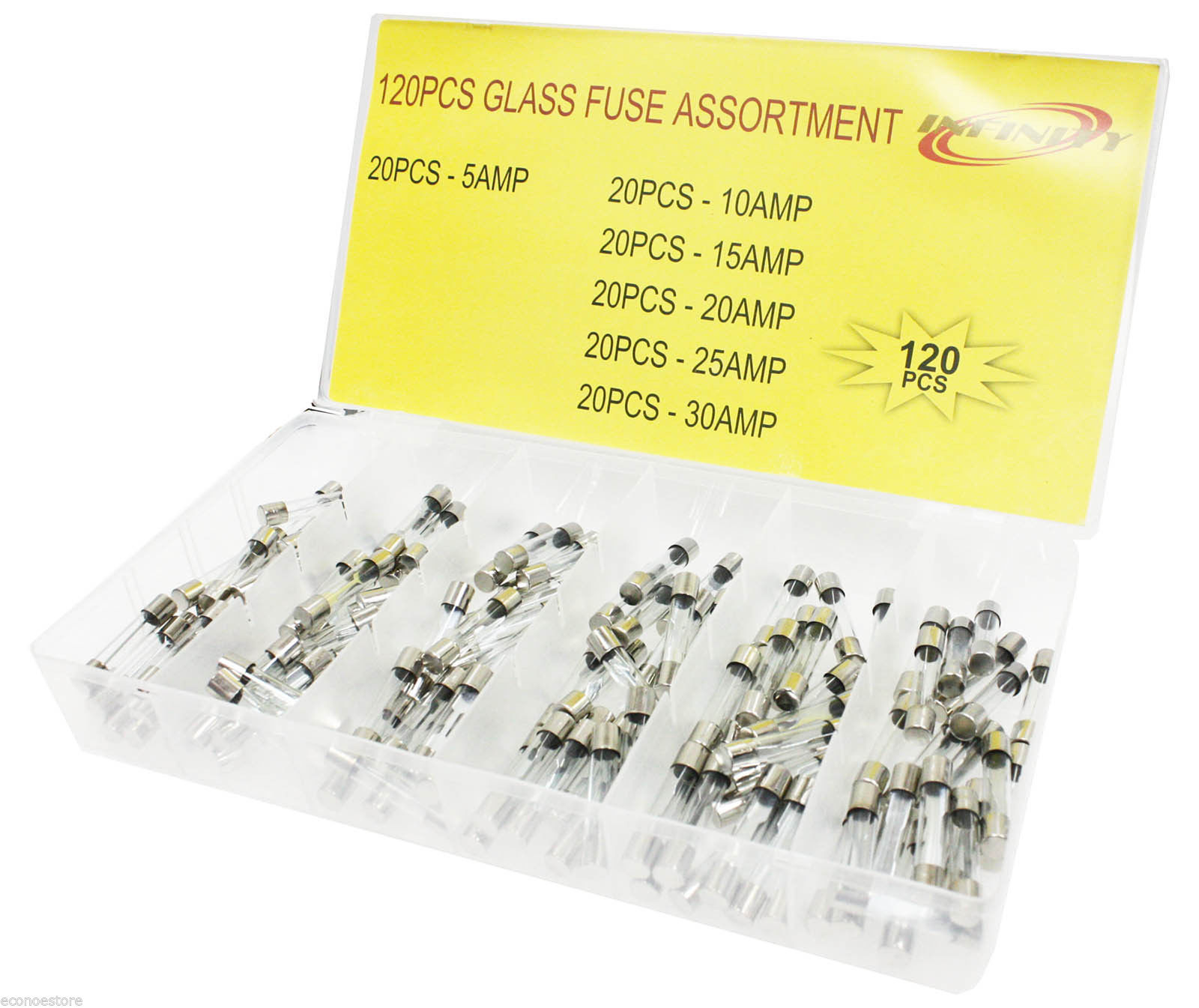 hight resolution of 120 pc quick blow glass tube fuse assorted car blade circuits fuse 5amp 30amp