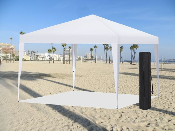 Easy Pop Instant Canopy Party Event Shelter Beach Tent 10'x10' White Ez Setup Econosuperstore