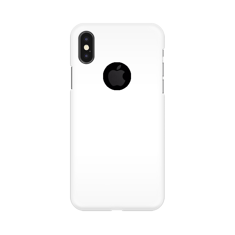iPhone x with round apple cut