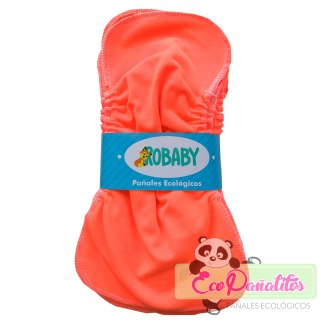 paquete 10 liners naranja robaby