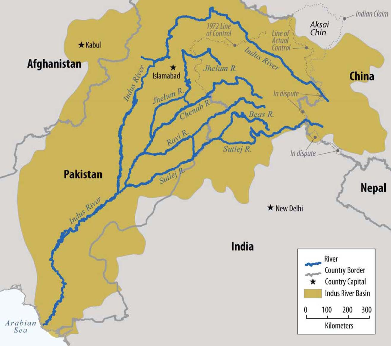 Map Of The Indus Basin Source Us Senate Report