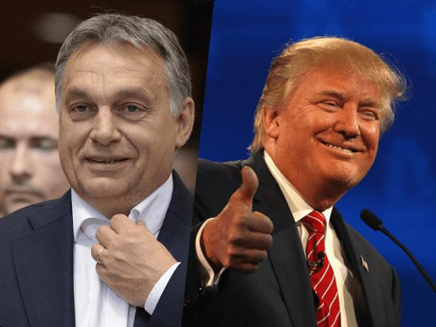 alors qu'Obama était très critique à l'égard de la politique du Premier ministre hongrois, le président républicain ne considère pas Orbán comme le destructeur de la société civile hongroise.