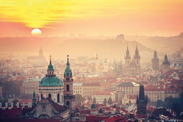 Prague-spire-landscape