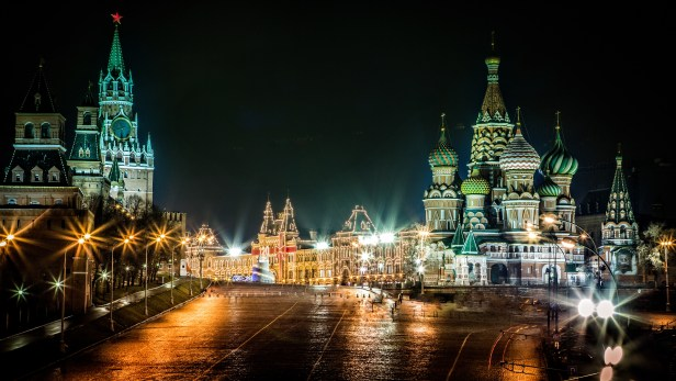 Red Square Glow
