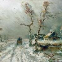 La tempête de neige arrive. 1910. Collection privée.