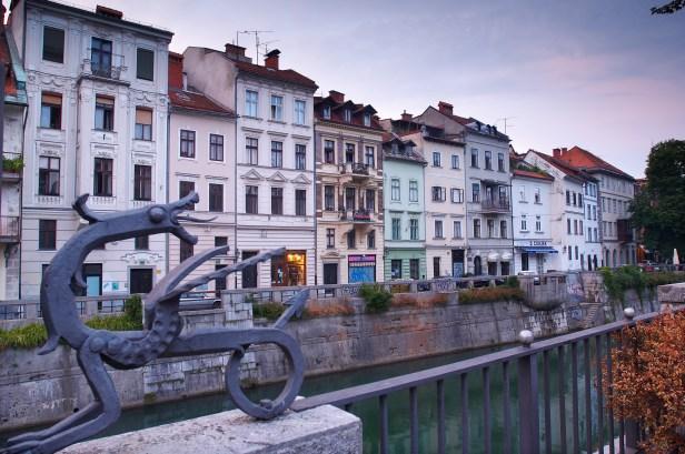 morning in old center of ljubljana - slovenian cap