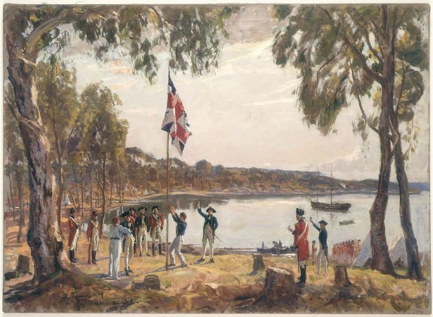 oil-sketch-of-the-british-colonising-sydney-in-1788--algernon-talmage-wikimedia-commons
