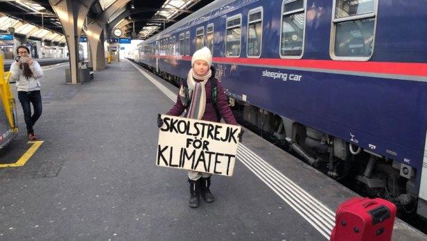 Swedish climate activist Greta Thunberg arrives in Switzerland to attend WEF in Davos, Zurich - 23 Jan 2019