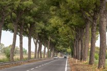 Via Appia is a road that follows the route of the homonymous ancient Roman road (connecting Rome to Brindisi).