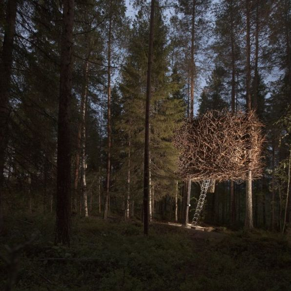Swedish Treehotel-birdsnest_exterior