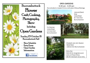 Burrumbuttock open gardens and much more ...