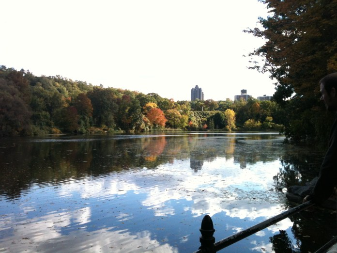 Van Cortlandt Lake, the largest body of freshwater in the Bronx