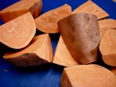 Pan Roasted Maple Sweet Potatoes