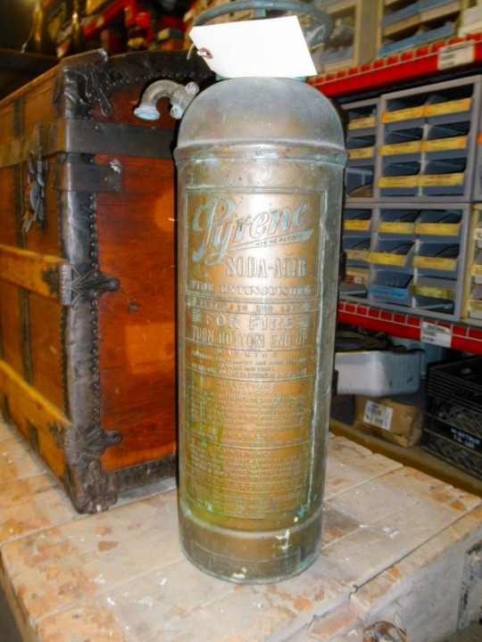 Vintage Fire Extinguisher and Trunk