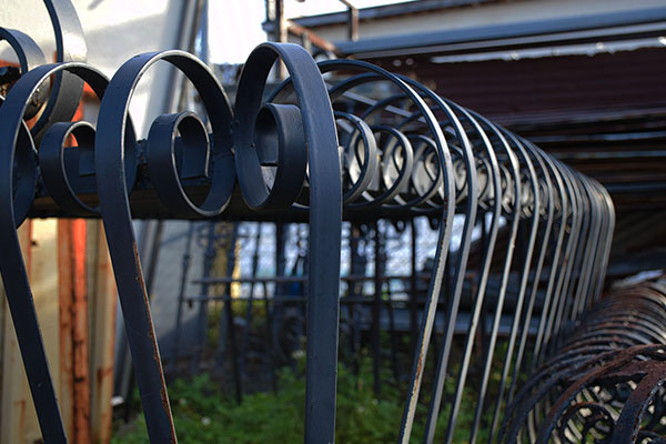 Salvaged ornamental ironwork