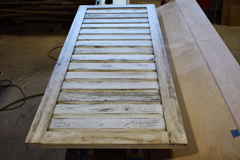 Custom Barn Door by Billy built with pine lap siding