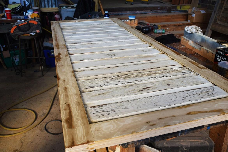Beautiful Barn Door Built From Salvaged Pine Lap Siding