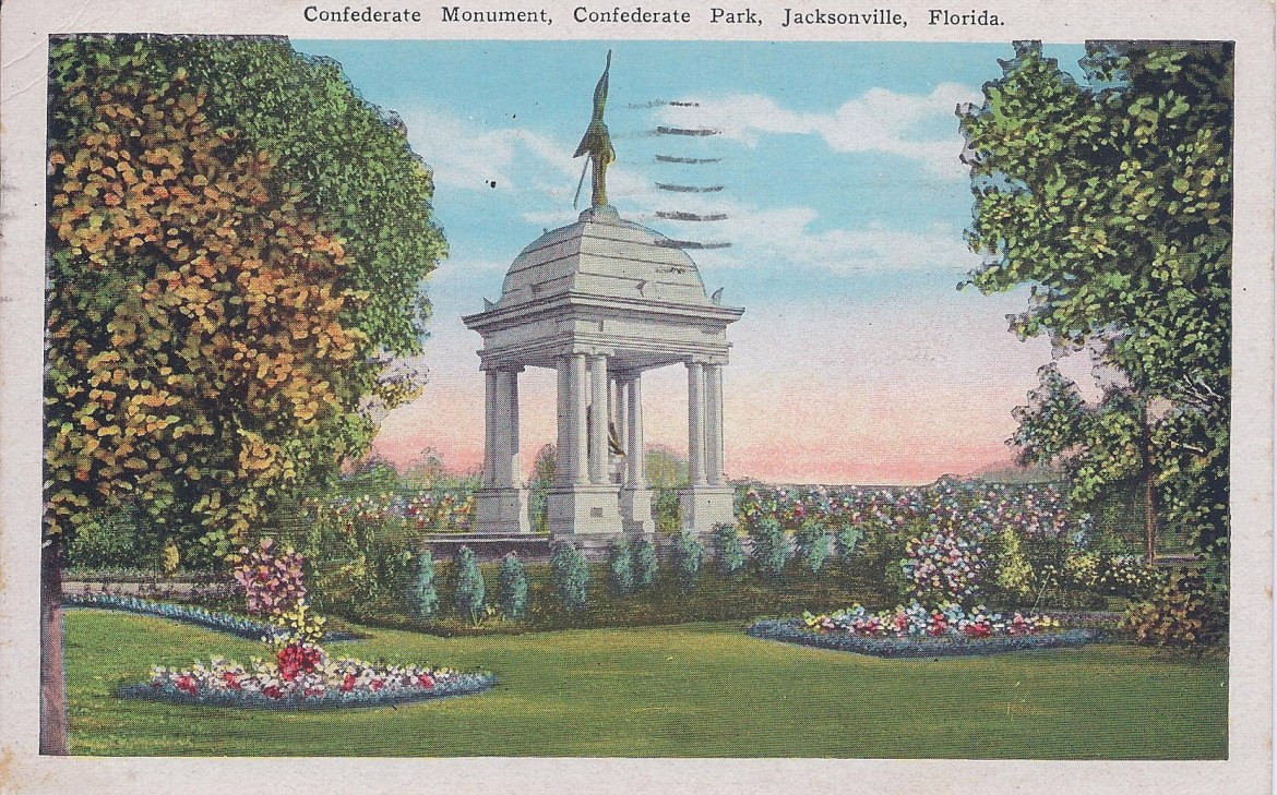 Postcard Confederate Monument Postdated 1929