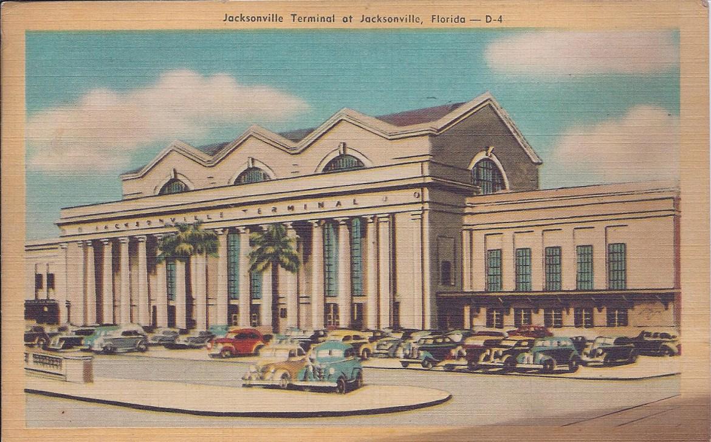Postcard Jacksonville Terminal Postdate unknown