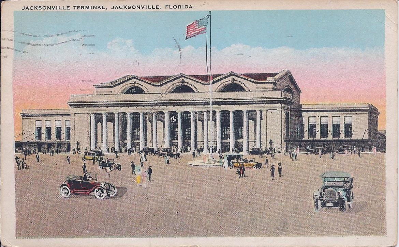 Postcard Jacksonville Terminal Postdated 1924