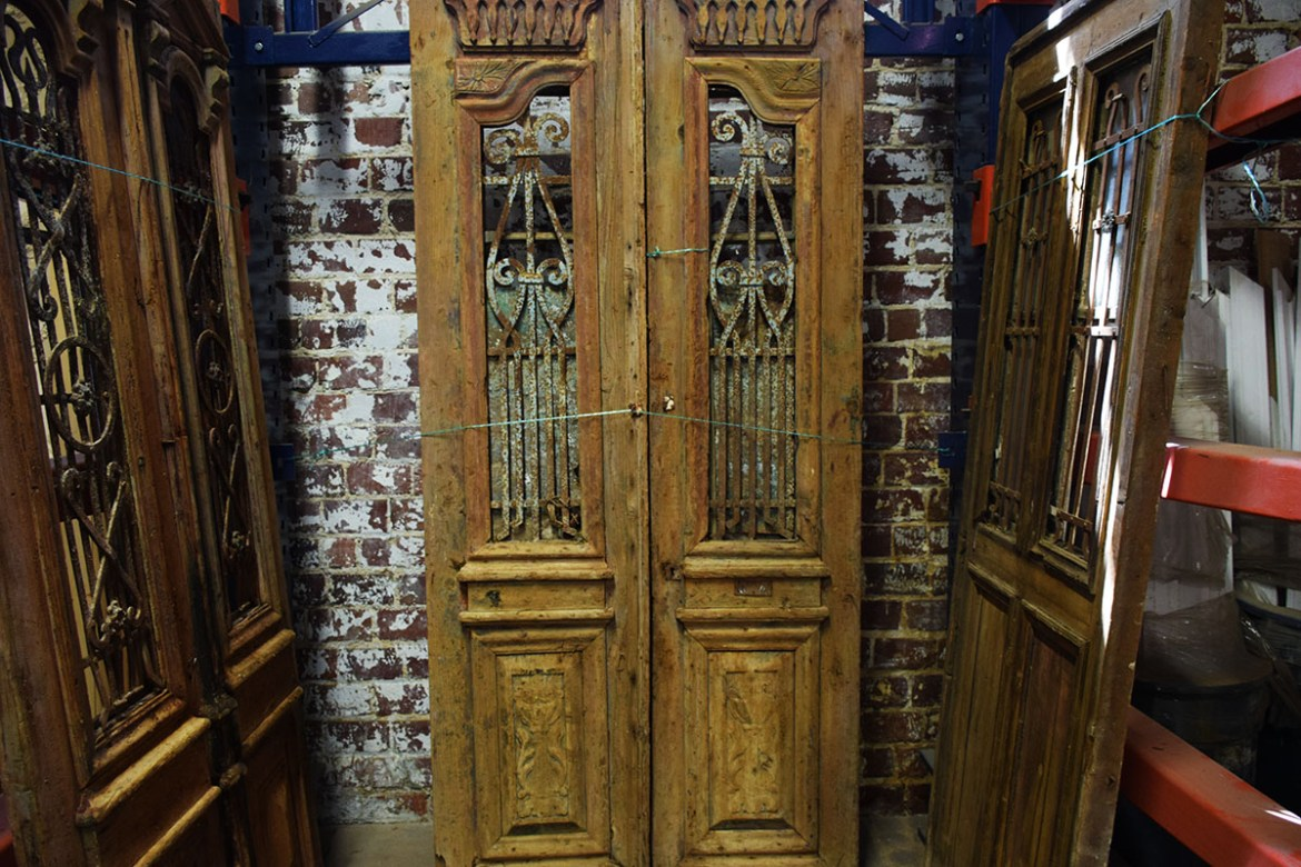 Three more sets of beautiful antique Egyptian doors.