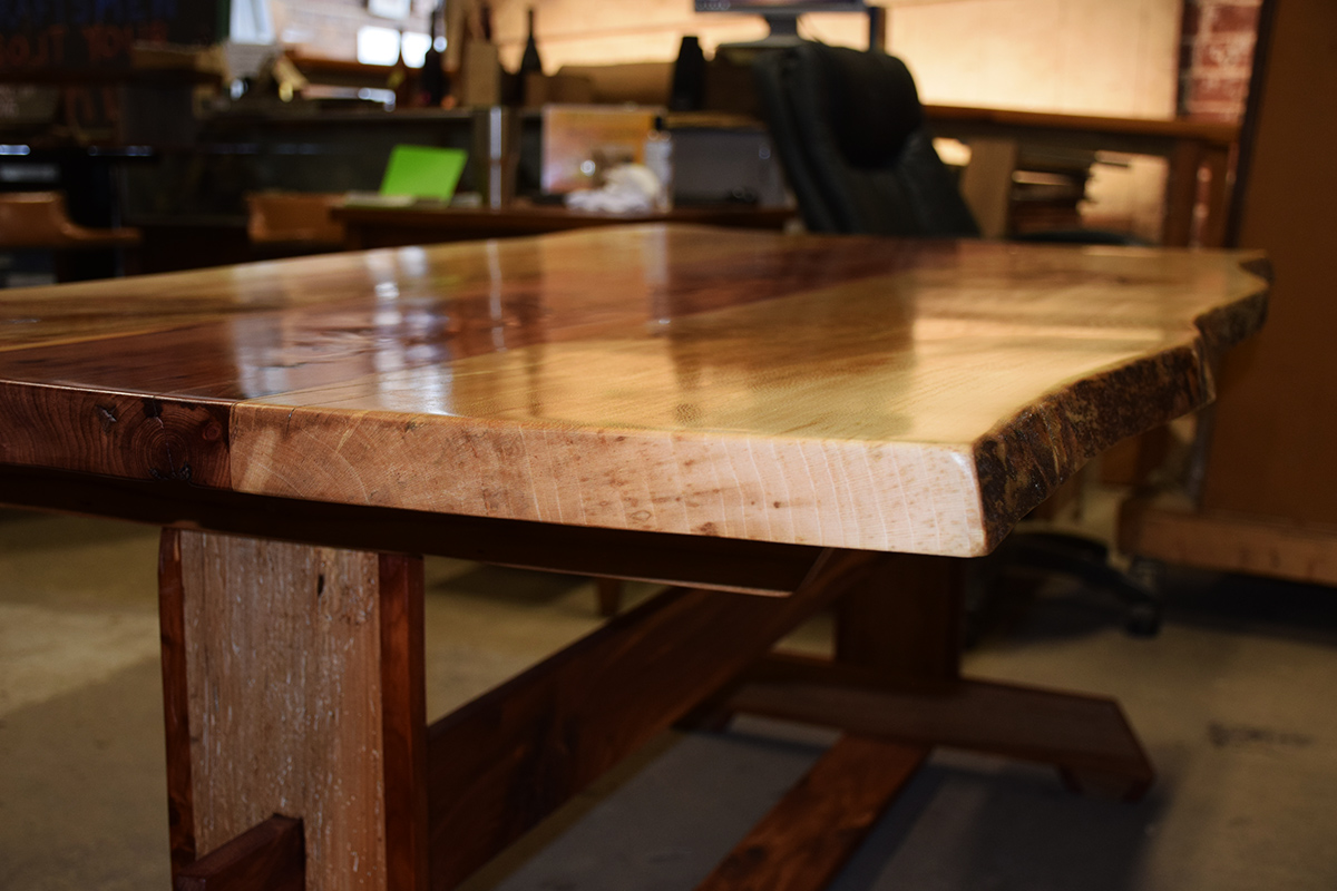 Sycamore And Cedar Table Top With Beautiful Glossy Finish.