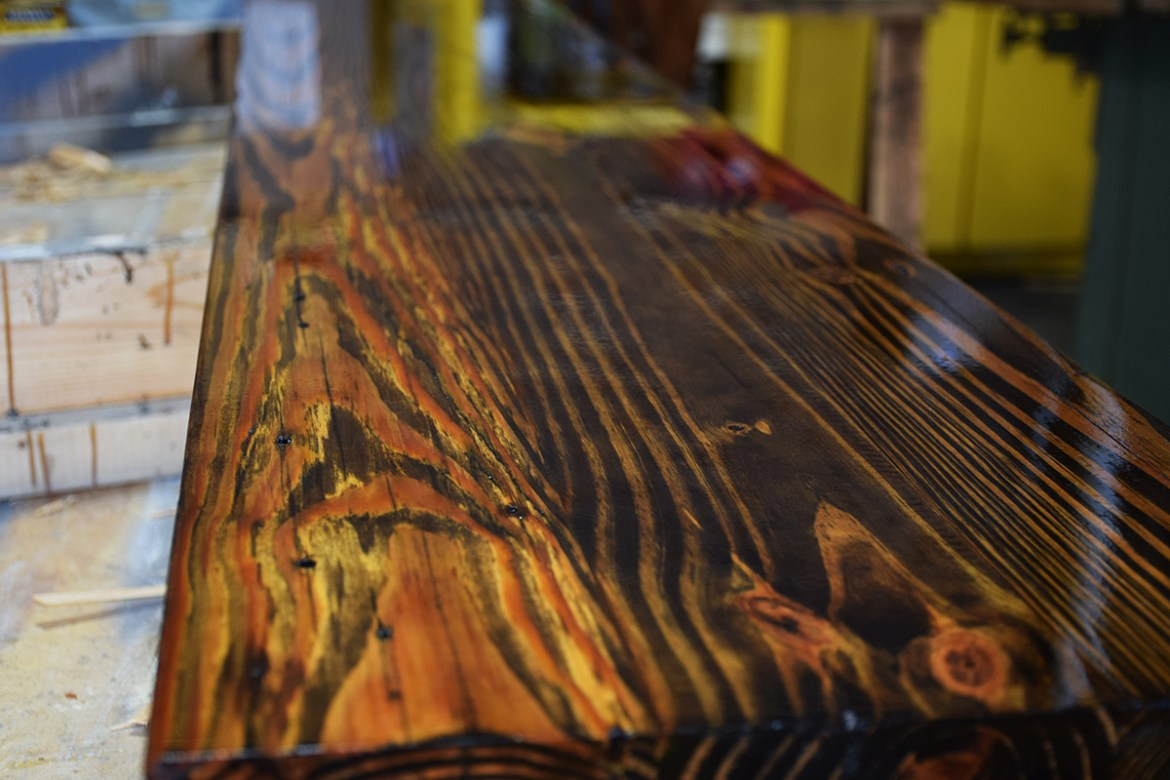 Another beautiful Heart Pine flamed farm table.