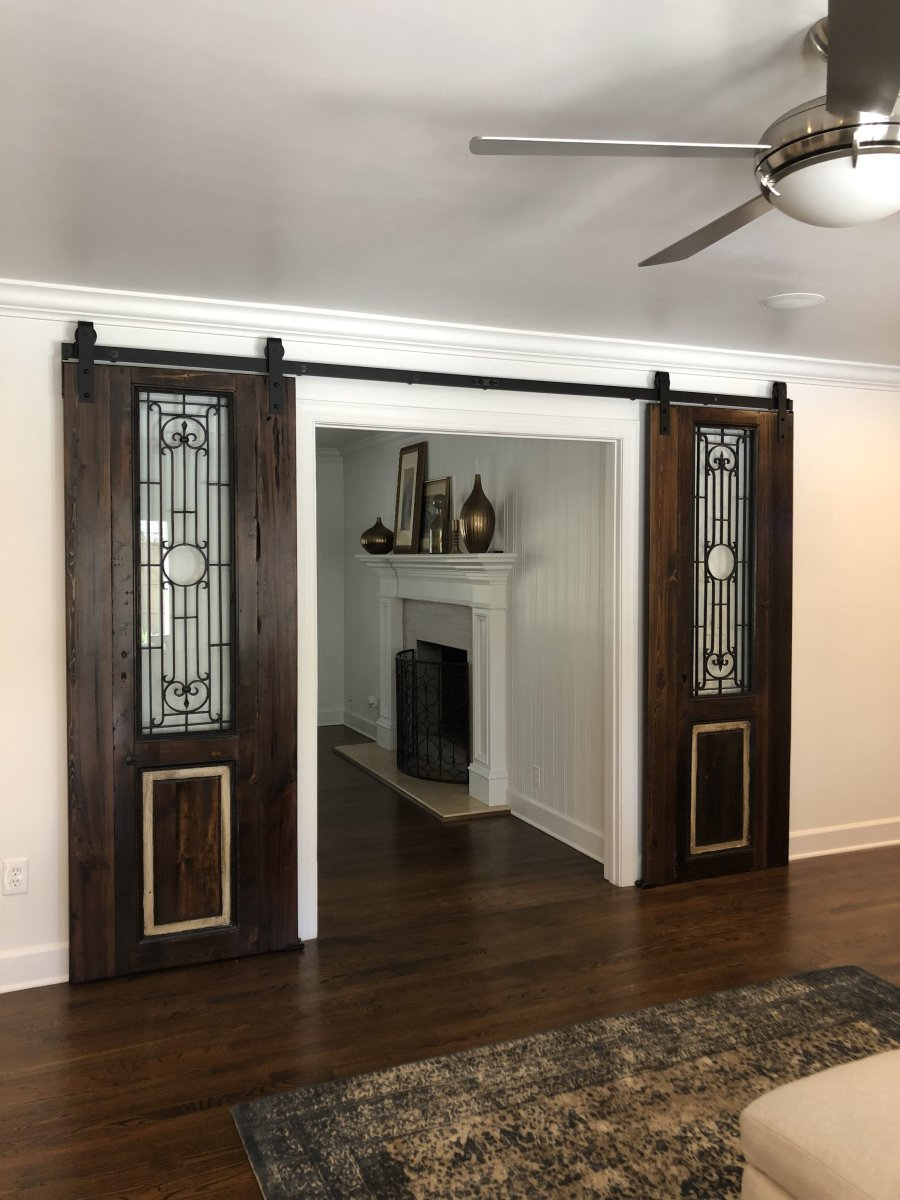 Beautiful Custom Barn Doors Made From Antique Egyptian Doors