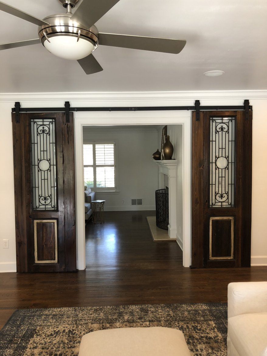 The new owners of these Customized Antique Egyptian Barn Doors couldn't have been more thrilled!