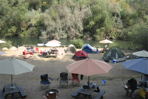 Campsite on the Russian River