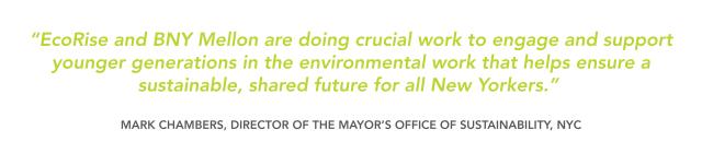 mark chambers Mayor's office of sustainability NYC