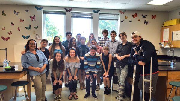Shannon McPherson and EcoRise Biomimicry Showcase CPHS Class Photo