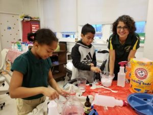 Bruce-Monroe Students making natural cleaning supplies