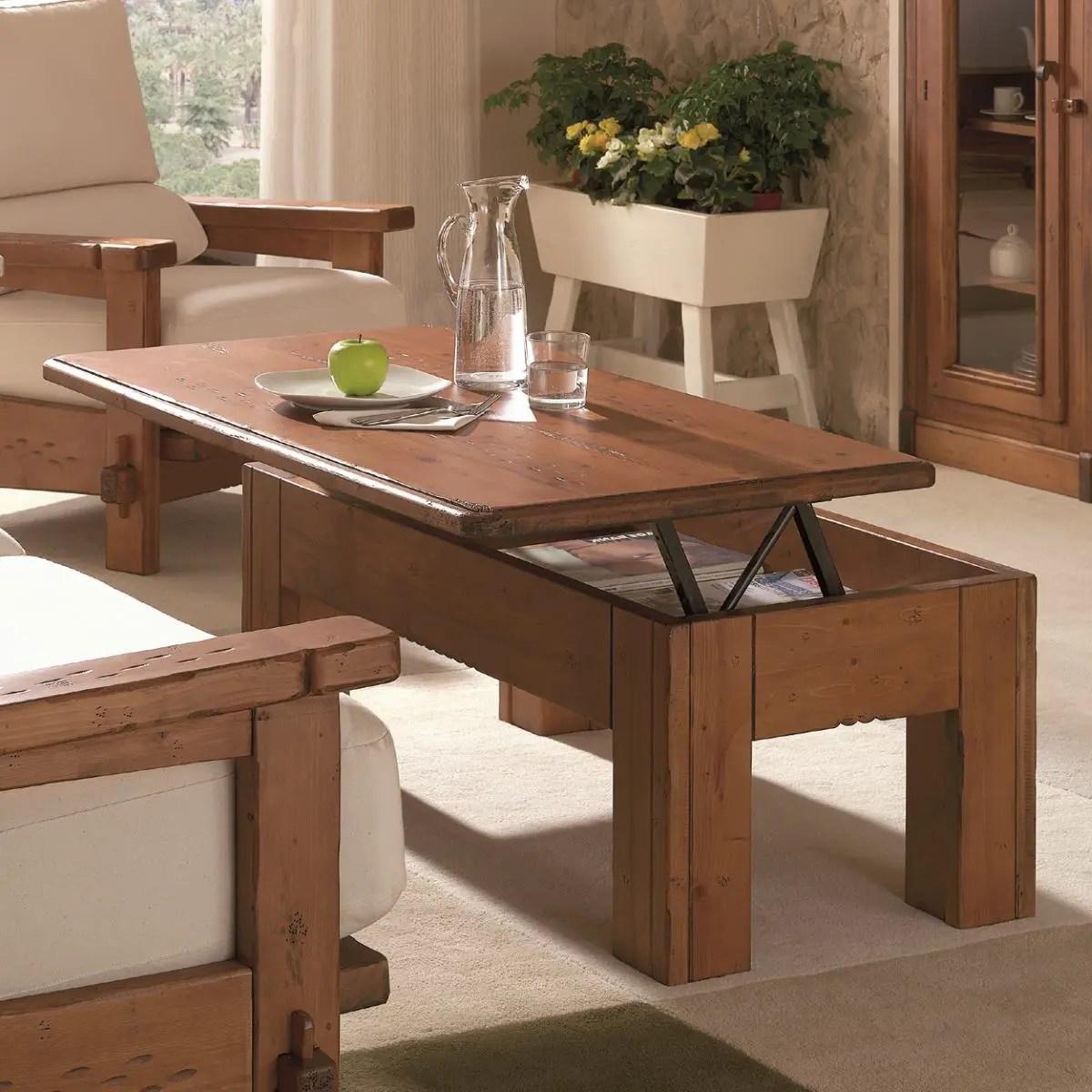 Mesa de centro rstica elevable Ecorstico venta de muebles