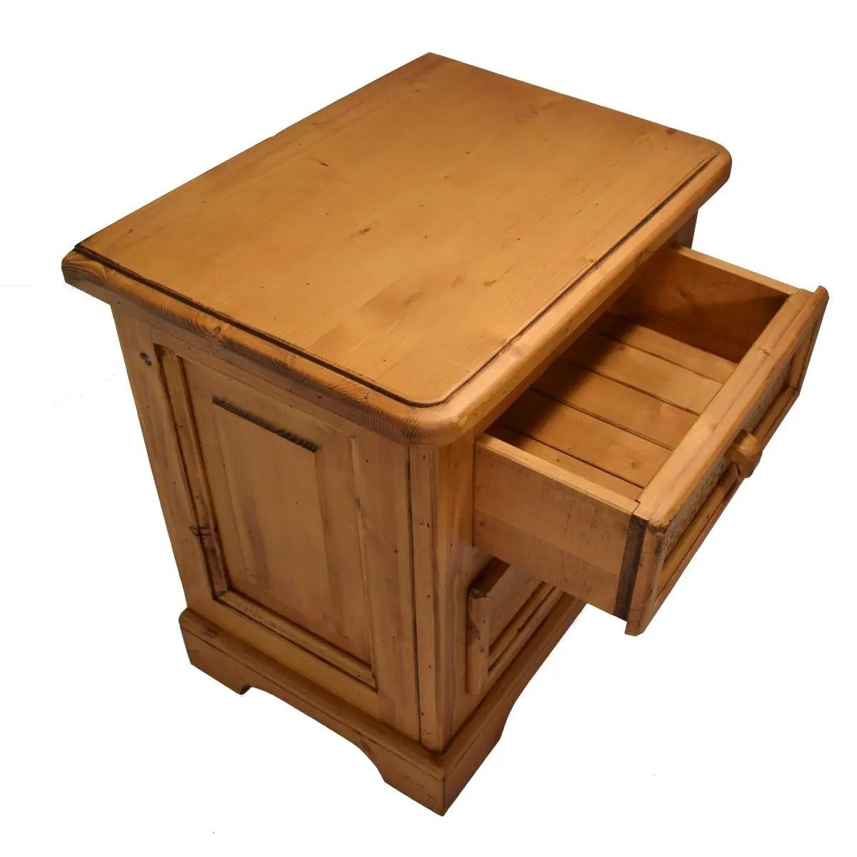 Mesita de noche rstica dos cajones Ecorstico venta online de muebles de madera