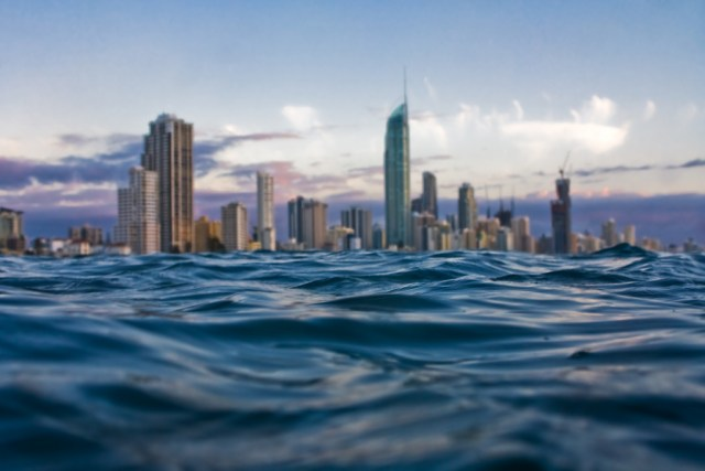 image of the Gold Coast as seen from the ocean