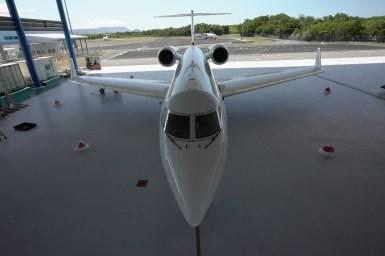 Plane in a hangar