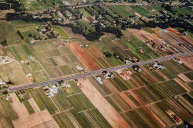 aerial view of Australian farm land