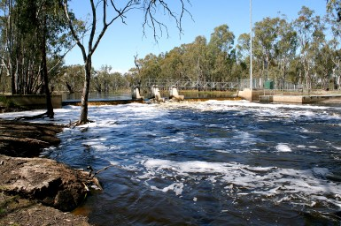 flood waters in weir