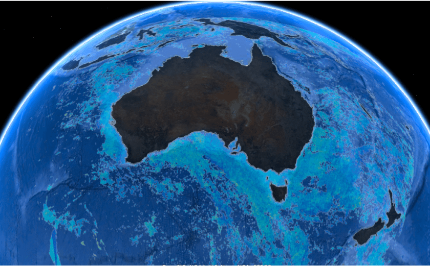 Graphic of an aerial view of Australia