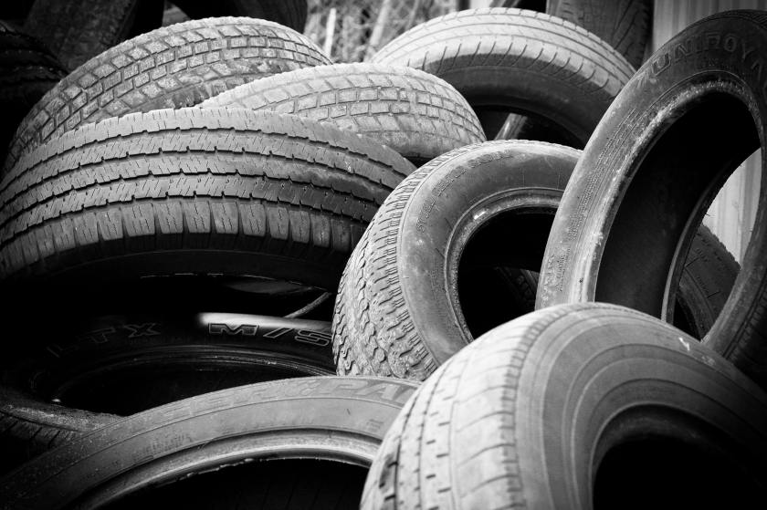 Picture of dumped tyres. Image by David Edelstein/Unsplash