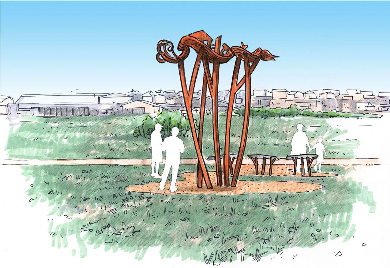 sculpture-monumental-flood-sculpture-sketch