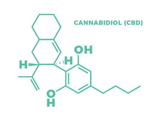 What is CBD molecule diagram