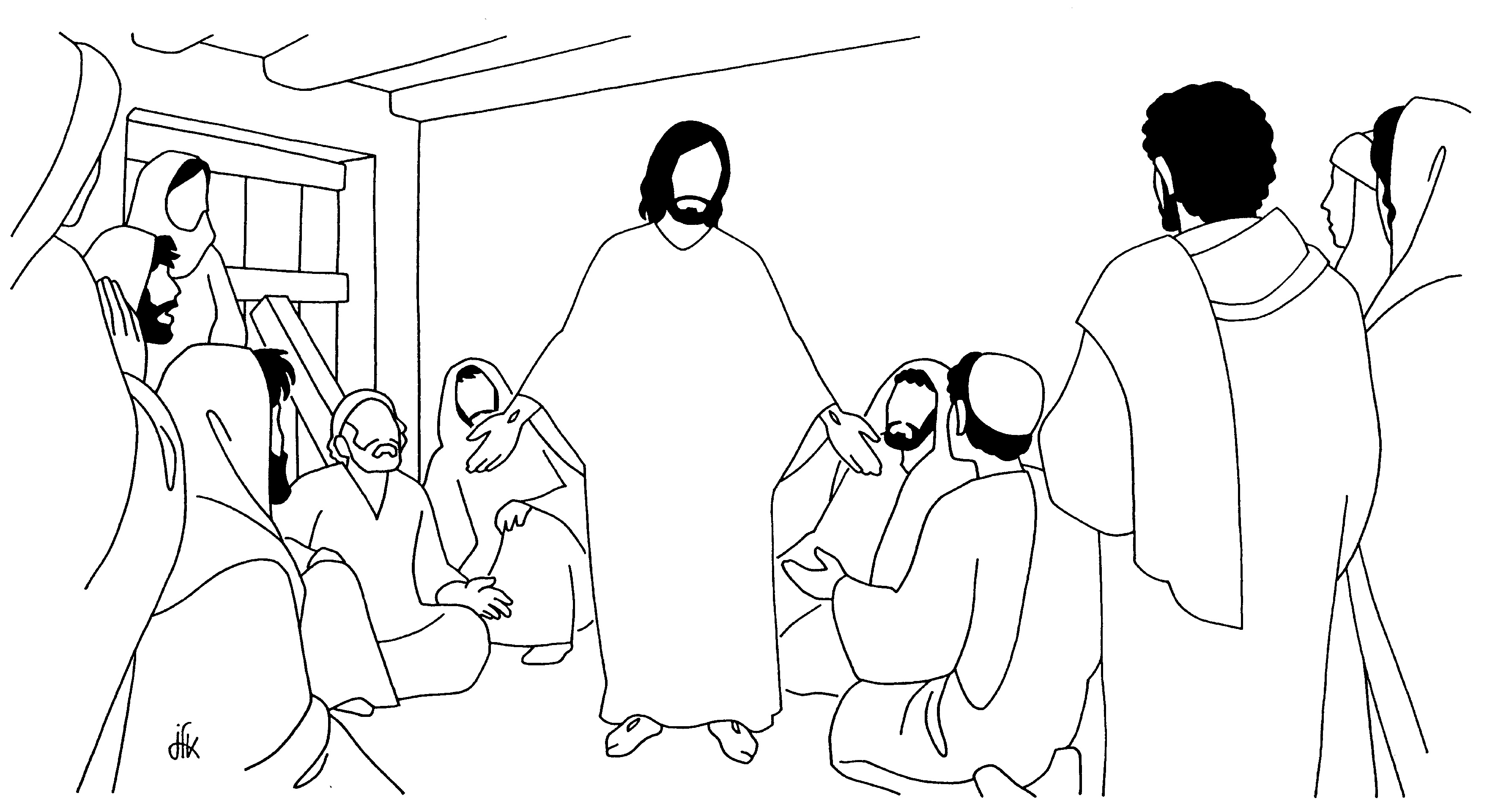 Pin Doubting Thomas Coloring Pages on Pinterest