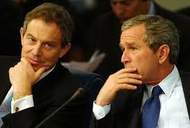 Tony Blair y George W. Bush